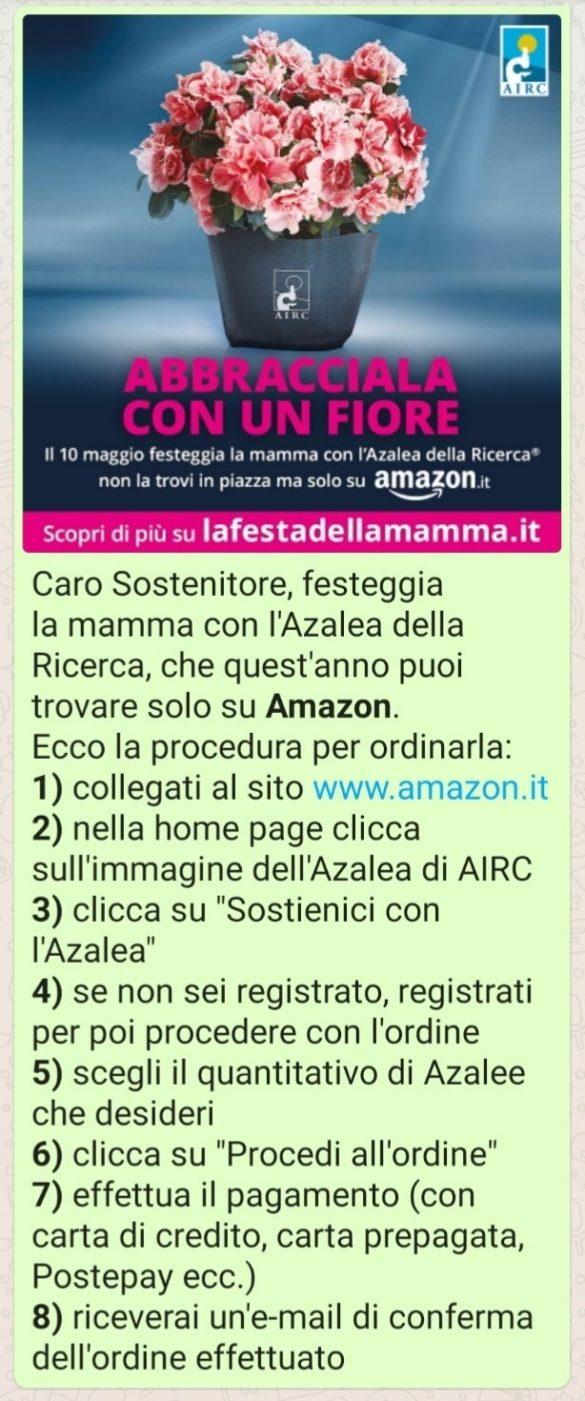 FESTA DELLA MAMMA: AIRC e Amazon insieme per la lotta al cancro